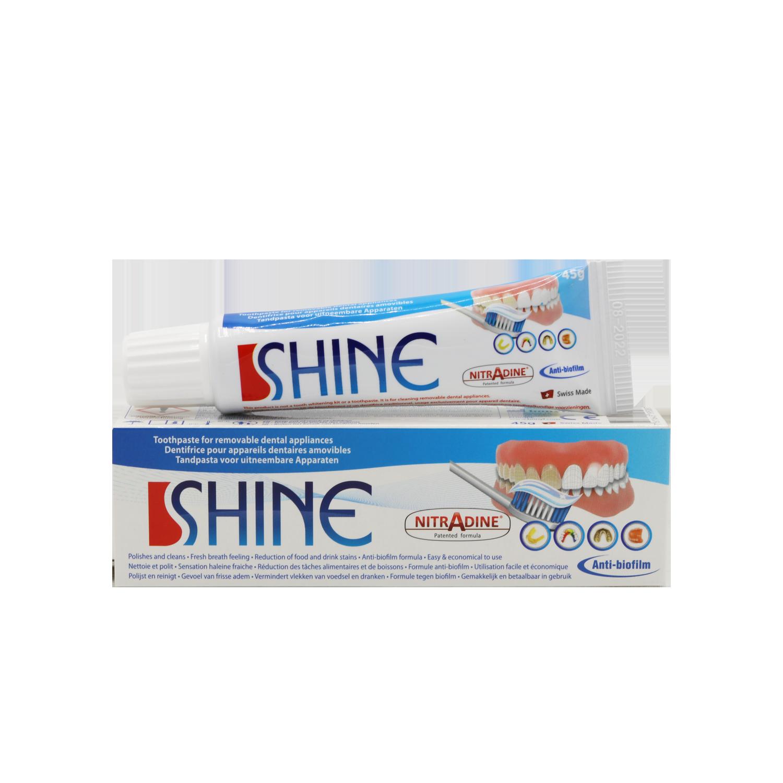 NitrAdine® Shine, 45g Dentifrice pour appareils amovibles